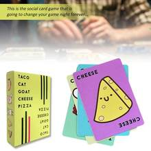 Taco Cat Goat Cheese Pizza English Game Card Party Card Social Card Game Family Board Games Quick And Simple Entertainm In Stock(China)