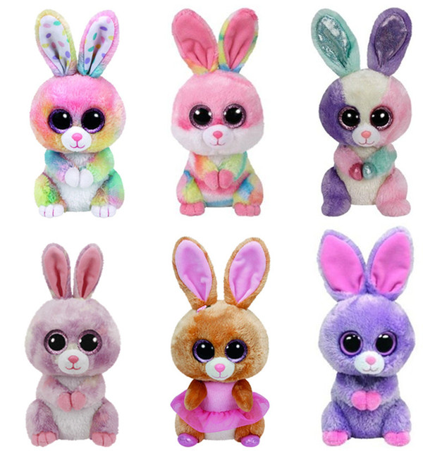 Ty Beanie Boos Easter Rabbit Bunny Bloom Bubby Lollipop Twinkle Toes Cute  Plush Stuffed Animal Big Eyes Kids Toys for Children e39991df9221