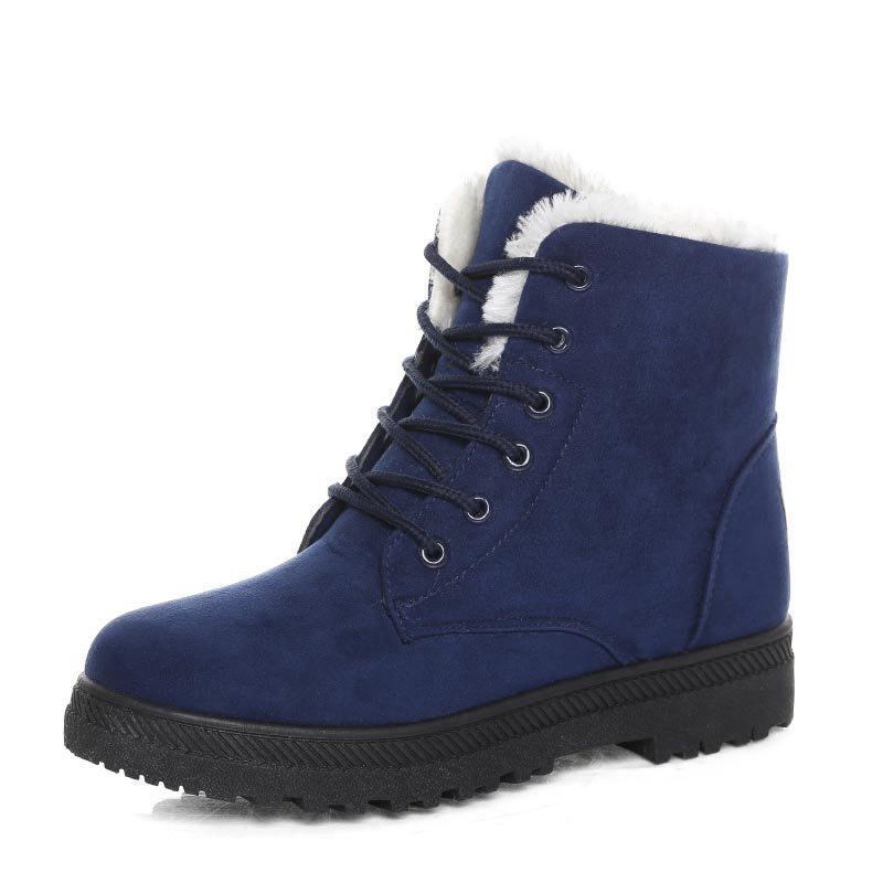 Women Snow boots classic heels suede winter boots  5