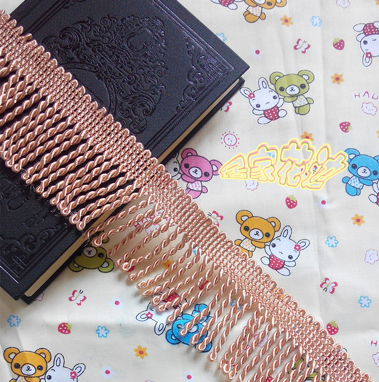 12Yard/lot  Lace Trim Decoration Diy Clothes Accessories Curtain Gold Laciness Tassel Rope Traceries Accessories Fabric 6cm Wide