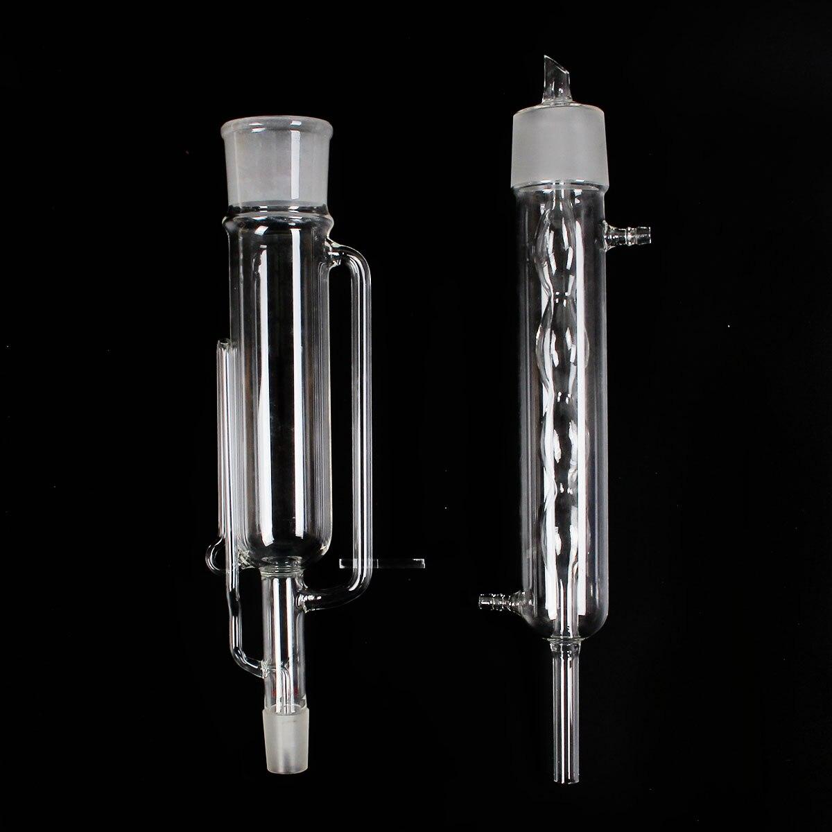 500 ml 24/29 Vetro Estrattore Soxhlet Allihn Condensatore Corpo Kit Vetreria di Laboratorio Vetreria Set Forniture Trasparente