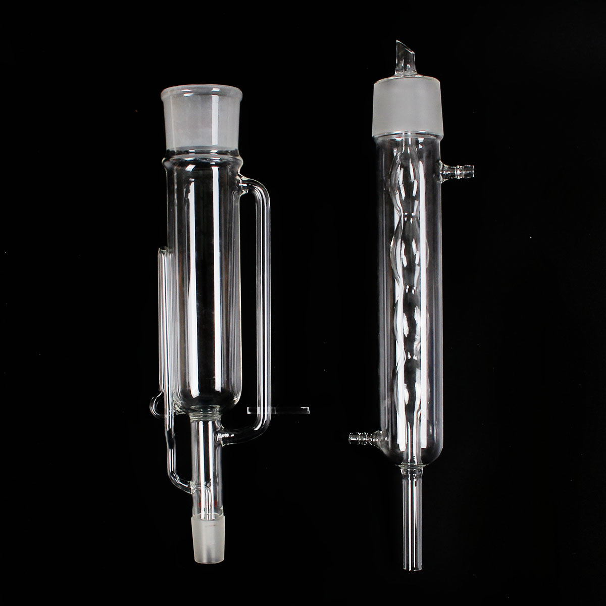 500ml 24/29 Glass Soxhlet Extractor Allihn Condenser Body Glassware Kit Lab Glassware Set Supplies Transparent
