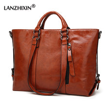 Women PU Leather Handbags Women Bags For Women Messenger Bags Ladies Designer Crossbody Bags Vintage Top-Handle Bags Tote A003(China)