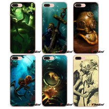 Deep Sea Diver Banksy Cartaz Da Arte Caso TPU Para o iphone X 4 4S 5 5S 5C SE 6 6 S 7 8 Plus Samsung Galaxy J1 J3 J5 J7 A3 A5 2016 2017(China)