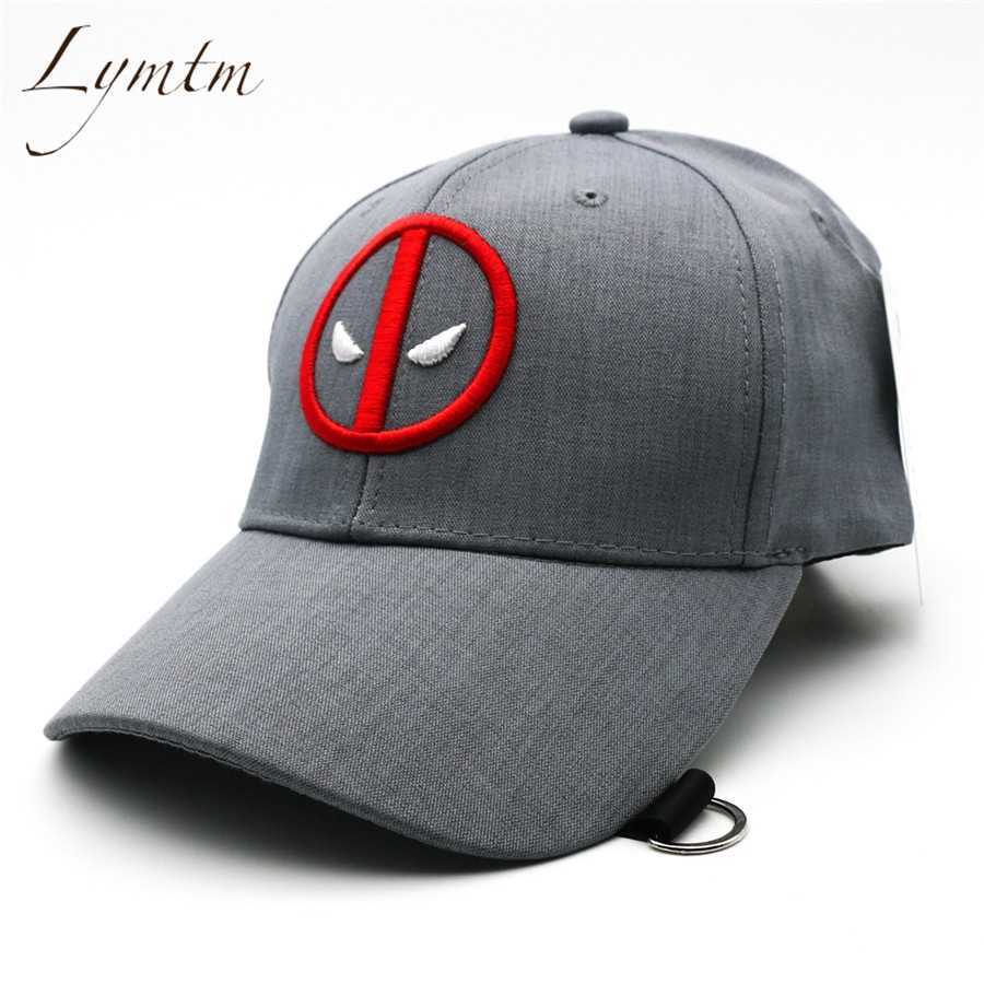 sports shoes 51c22 6bd6c Detail Feedback Questions about  Lymtm  2018 Summer Deadpool Embroidery Baseball  Caps Funny Marvel Hat Adjustable Snapback Casquette Hockey Caps on ...