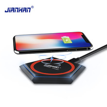 JIANHAN 15W Qi Wireless Charger Fast Charging pad Sleep LED For Samsung S8/9 Galaxy Xiaomi Huawei USB Type C
