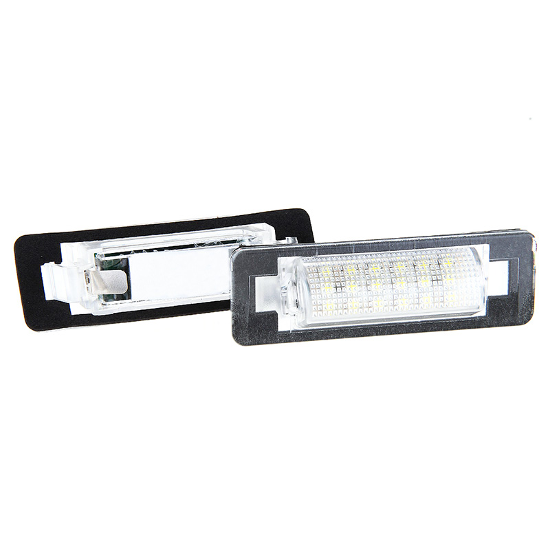 2x No Error LED License Plate light for Mercedes Benz W210 W202 Car styling auto replacement accessory parts car led lighting