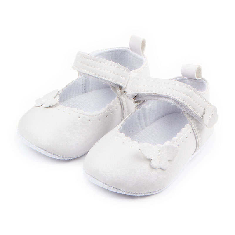 Cute Sweet Soild Butterfly-knot Soft Sole Hook&loop Infant Newborn Baby Girl Shoes Princess Shoes First walker