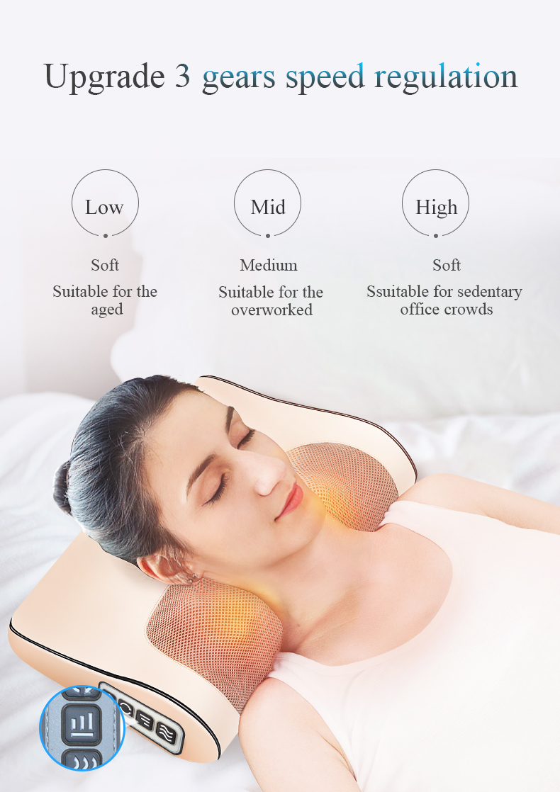 Infrared Heating Neck Shoulder Back Body Multifunctional Massage Pillow Shiatsu Massager Device Cervical Healthy Massageador10