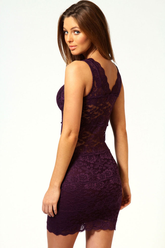 d03d07c9b932 FIYOTE Sexy Dress for Evening Party 2015 NEW arrival Allover Lace Strappy  Fitted Cup Bodycon Dress Purple LC2719 3 Denim Style on Aliexpress.com
