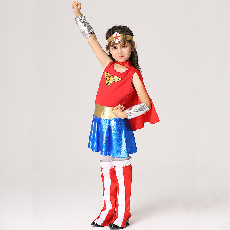 Girls Wonder Woman Costume Children Supergirl Fancy Dress DC Superhero Cosplay Princess Diana Outfit Kids Halloween Costume 2018-in Girls Costumes from ...  sc 1 st  AliExpress.com & Girls Wonder Woman Costume Children Supergirl Fancy Dress DC ...