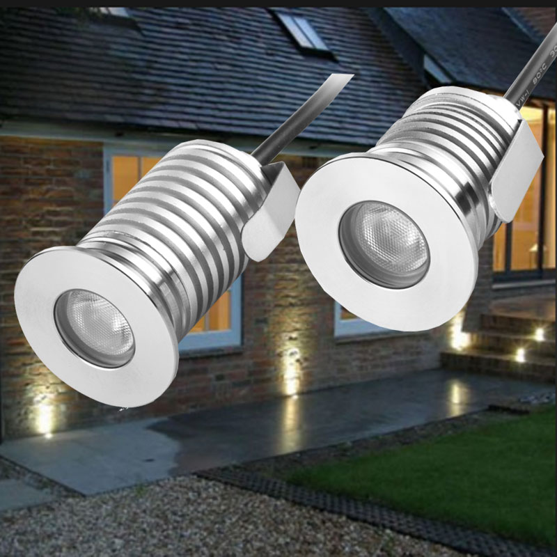 Logical 12pcs/1w 3w 12v Ip68 Waterproof Outdoor Led Recessed Deck Floor Light Spot Lamp Spotlight Patio Paver Light Garden Landscaping Led Lamps