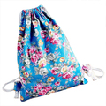 ASDS Womens Floral Canvas Backpack Fashion School bags Drawstring Backpack Bags