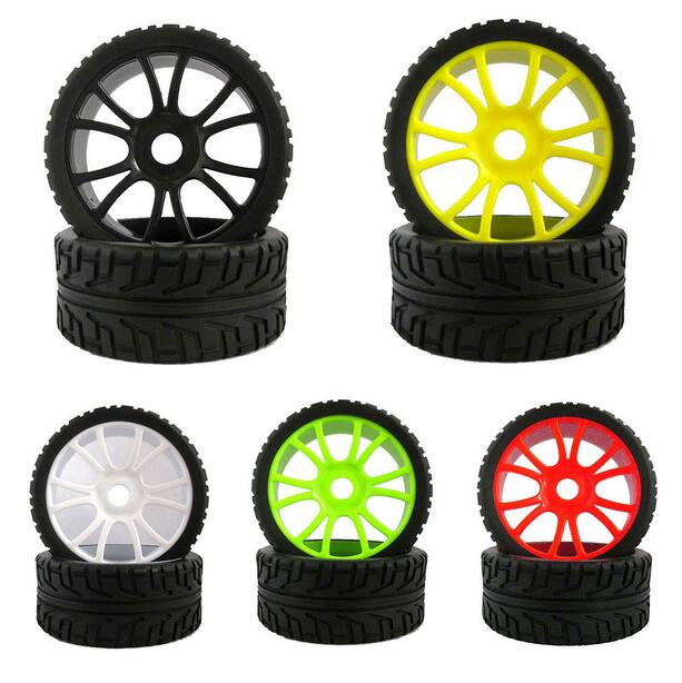 4pcs HSP 1/8 Buggy tyre wheel on road tire tires with sponge liner Diameter 100mm Free Shipping hsp bajer 5b 1 5th 2wd rtr 26cc engine gasoline off road buggy 94054