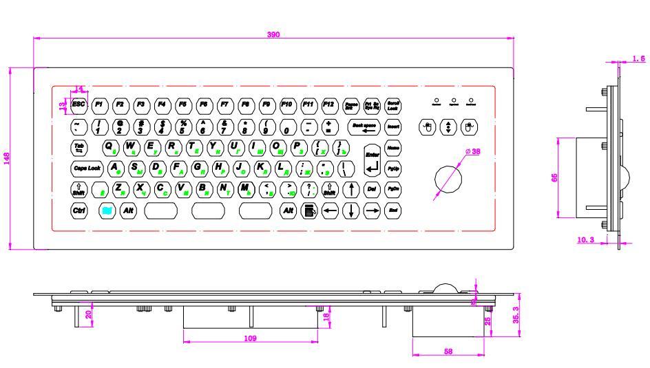 Մետաղական կրպակի ստեղնաշար Trackball - Համակարգչային արտաքին սարքեր - Լուսանկար 2