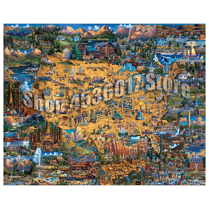 5D DIY Diamond Painting National Parks Maps United States