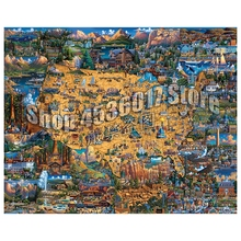 5D DIY Diamond Painting National Parks Maps United States Christmas Gift Full Diamond Embroidery Cross Stitch Mosaic Home Decor national geographic guide to national parks of the united states 7th edition