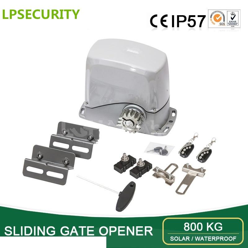 Automatic Sliding Gate Opener electric/sliding gate motor 24VDC 800Kg loading soft start stop 4m/5m nylon rack 1 lamp 1 sensor automatic sliding gate opener for home automation 1000kg