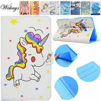 Wekays For Samsung Tab A 2016 T280 Cartoon Unicorn Leather Flip Case For Samsung Galaxy Tab A A6 7.0 T280 T285 Tablet Cover Case