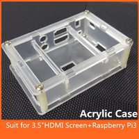 3 5 Inch LCD Touch Screen Clear Case Cover Transparent Shell Enclosure Box