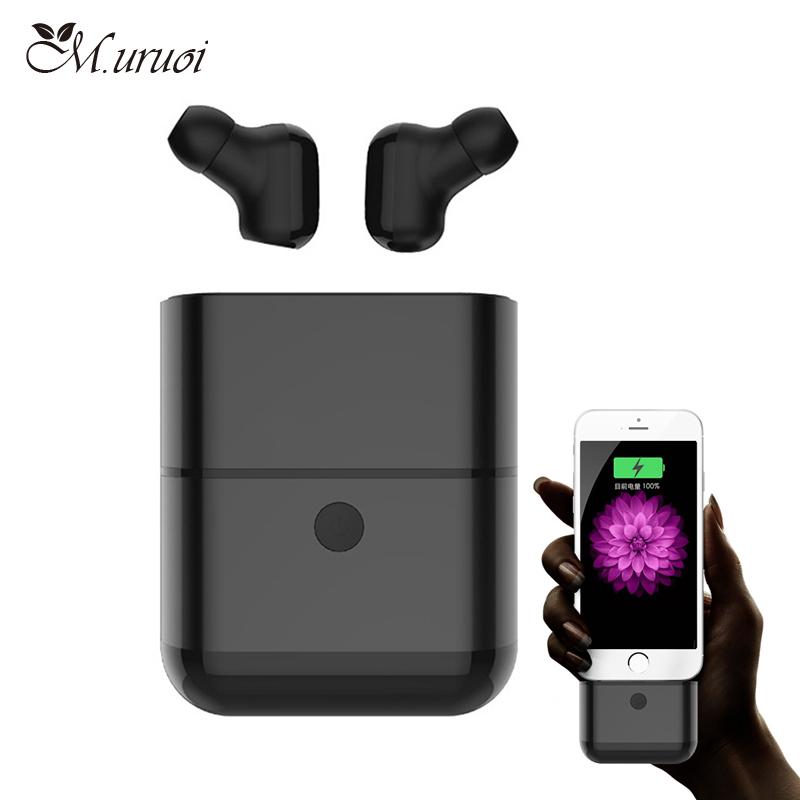 цена M.uruoi Bluetooth 4.2 Earbuds Waterproof Bluetooth Headset Stereo/Mono Earphone Handsfree With Mic Wireless Earbuds for Phone