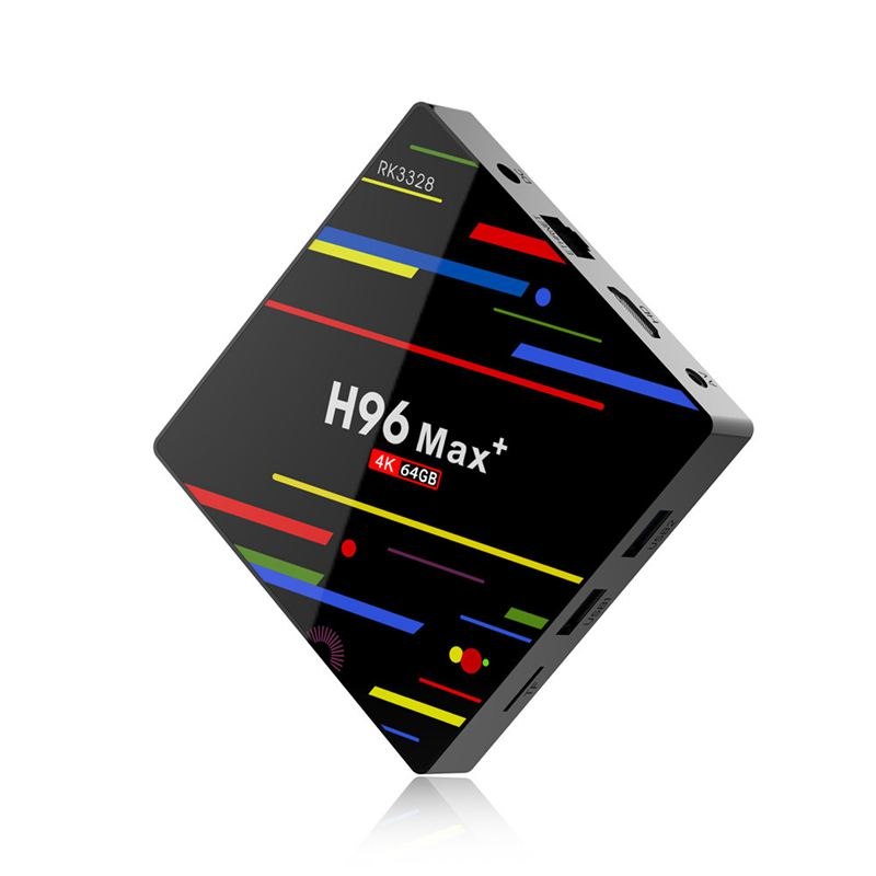 Eu Plug H96 Max Plus Tv Box Android 8.1 4Gb 64Gb Smart Set Top Box Rk3328 Quad Core 5G Wifi 4K H.265 Media Player H96 Pro H2 P(China)