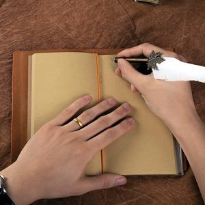 Image 3 - Personalizzato Notebook In Pelle Ufficiale Inciso Rilievo Regalo per Son Figlia Papà Mamma Diario Settimana Planner Agenda FAI DA TE Regali Di Compleanno