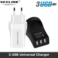 VOXLINK Universal 3 Port USB Phone Charger 5V 3 4A Portable USB Wall Charger Adapter EU