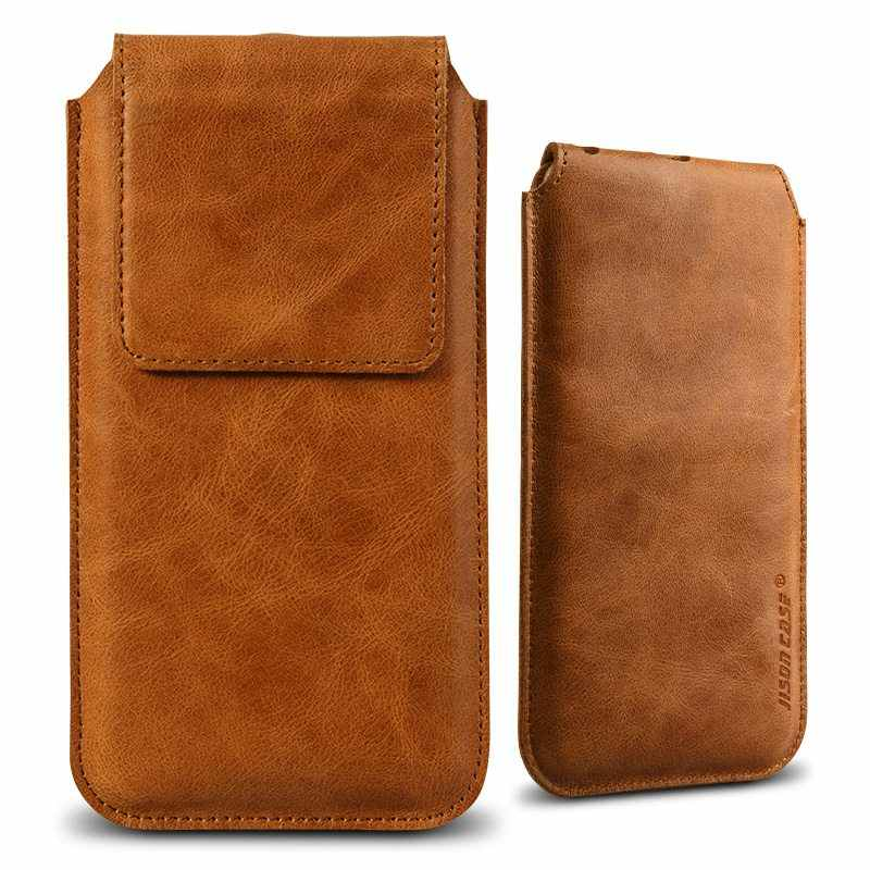 8092346841bd36 ... Jisoncase Genuine Leather Coque For iPhone 6s Plus Case Sleeve Cover  for iPhone 6 plus Bag ...