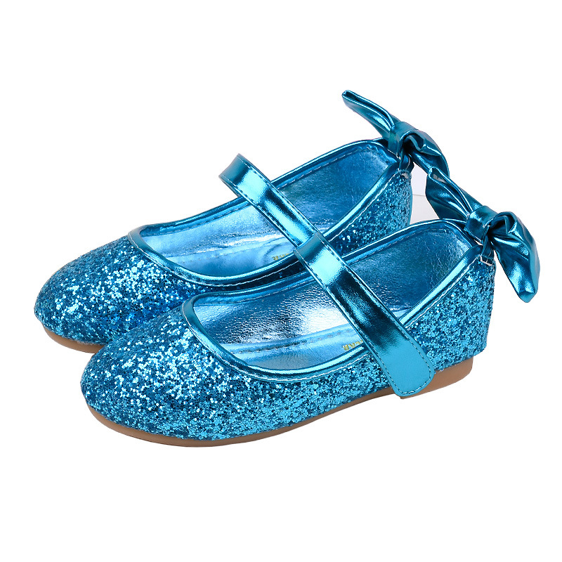 Girls Shoes Kids Princess Leather Performance Shoes Children Flat Heel Single Sneakers Shoes With Bow Girls Cute Party Shoes