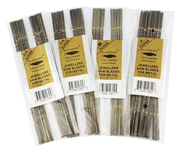 144pcs/pack Size 2/0 To 5/0 Jewelry Tools Glardon Sawblades Jewellery Saw Blades Jeweller MakingTools