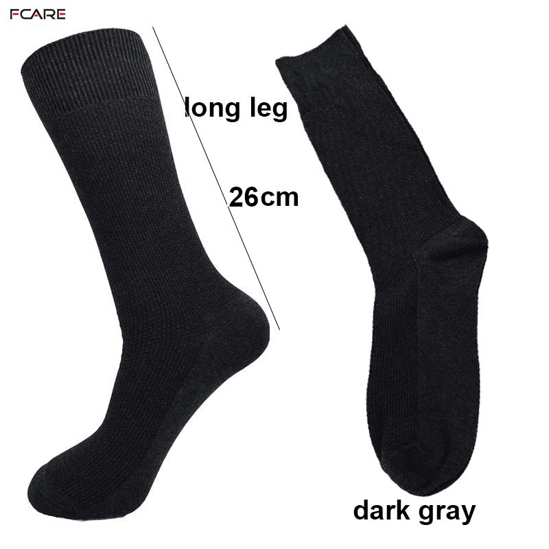 Fcare 10PCS=4 pairs 40, 41, 42, 43, 44, 45 long leg business socks men cotton dress dark gray stripe socks calcetas hombre