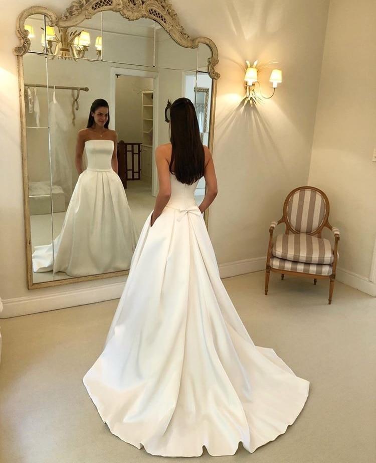 Wedding Gowns With Sashes: Aliexpress.com : Buy Vestidos De Novia Simple Strapless