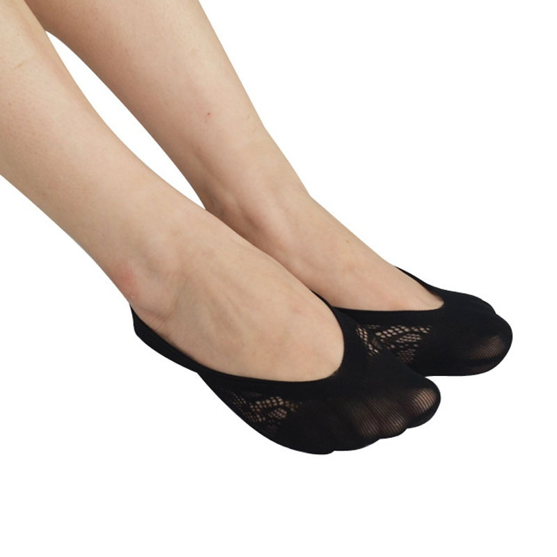 Women Summer New Lace Invisible Socks Elastic Casual Full