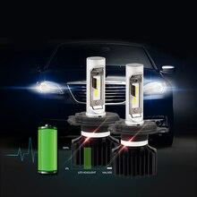 SEALIGHT H4/9003/HB2 LED Headlight Bulbs 80W 8000LM/Set White 6000K Car Hi/Lo Beam DRL Fog Driving Headlight Lamps Light Source