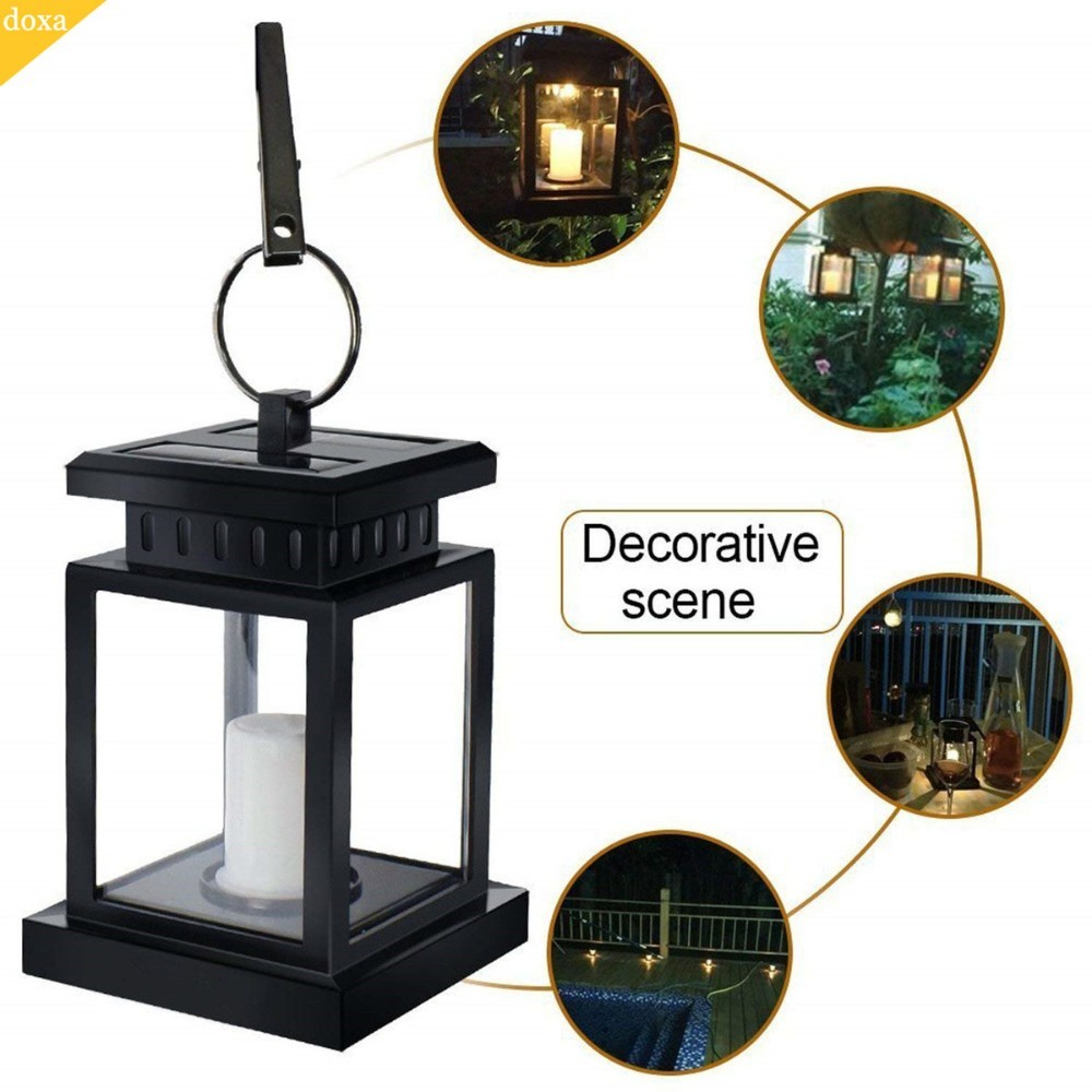 Doxa Garden Solar Light Outdoor Lantern Hanging LED Candle Twinkle IP44 Waterproof Tree Umbrella Decoration Night Wall Lamp New valentine s day heart starlight print tapestry wall hanging decoration