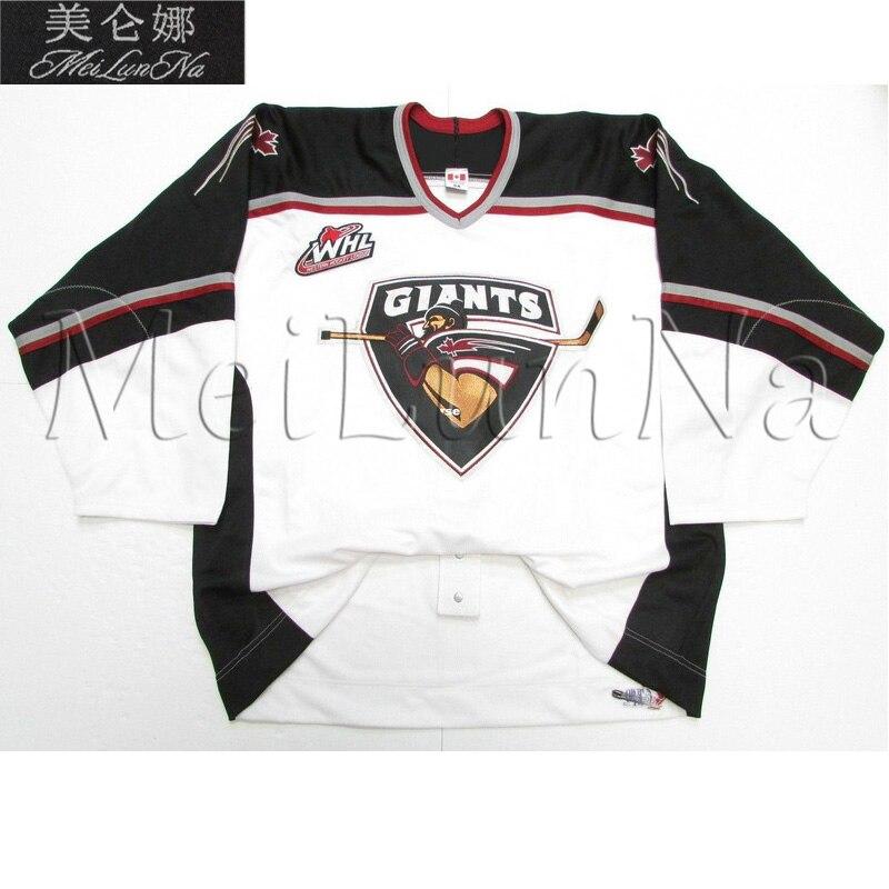 MeiLunNa Custom WHL Vancouver Giants jerseys 27 Milan Lucic Jonathon Blum Evander Kane Andrew Ladd Sewn On Any Name NO.Size sleeping giants