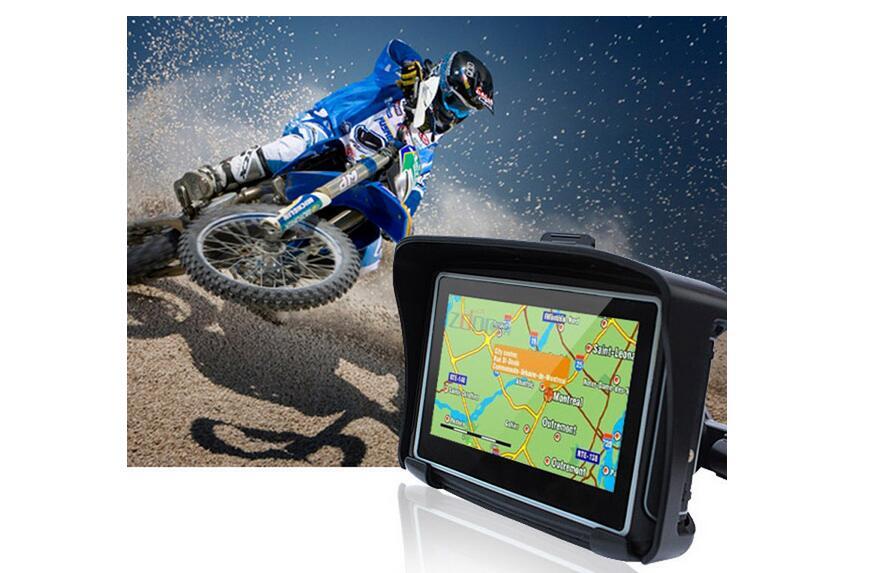 2017 обновления 4.3 GPS приборы для мотоциклов навигации сенсорный Водонепроницаемый IPX7 GPS навигации Bluetooth 8 ГБ для мотоцикла скутер