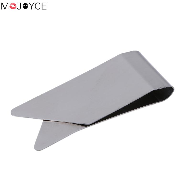 Slim Metal Double Sided Women Men Money Clip Wallet Metal Credit Card Money Holder Steel Clip Clamp