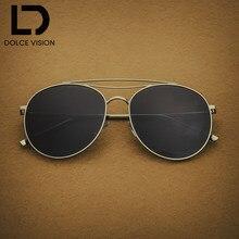 e23c9959c DOLCE VISÃO Tendência Mar Amarelo Claro Lente Dos Óculos De Sol Mulheres  Polarizada Piloto Óculos De Sol Unisex Marca Designer d.