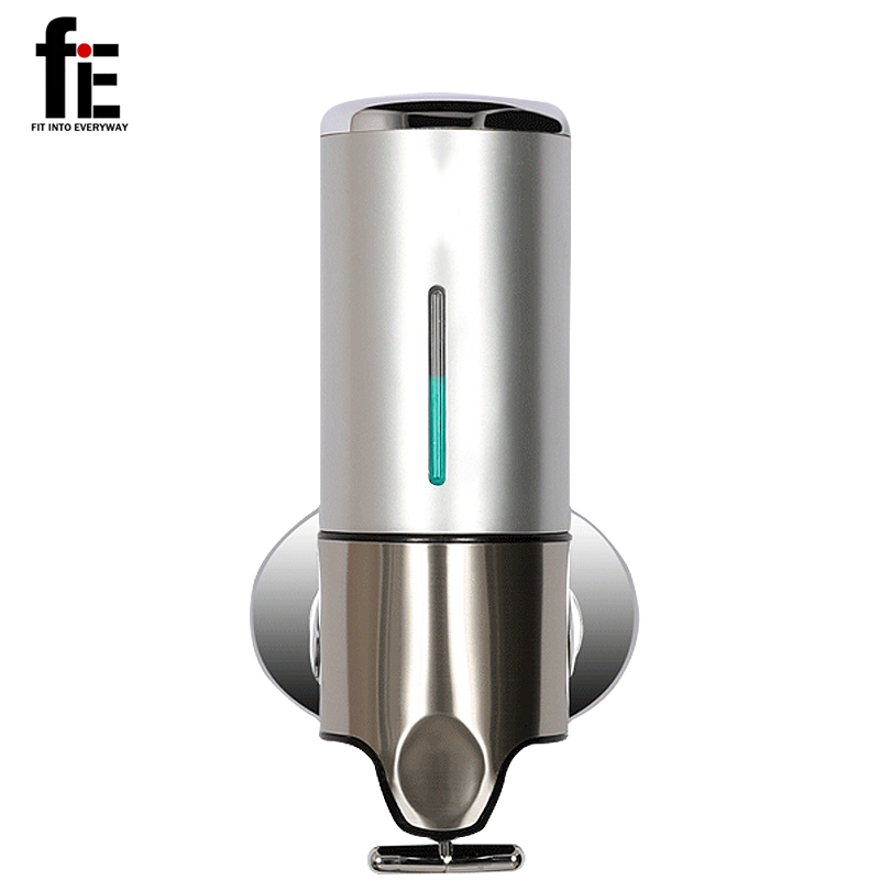 fit into everyway singlehead soap dispenser liquid shampoo dispenser for bathroom accessories shower hotel