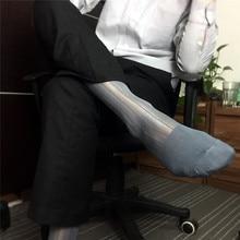 1 par Nylon Homens Meias Homem Meias Transparentes de Seda Listrado Projeto Formais Dos Homens Vestido de Negócios Sock