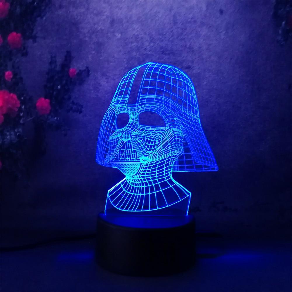 achat lampe veilleuse star wars dark vador darth vader 3d illusion