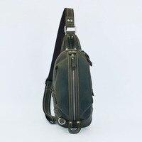 Vendimia genuina cámara bolsa de cuero de caballo loco hombres maletín bolso de los hombres bolsas de viaje bolsa de Mensajero Del Hombro de la vendimia #1300-1