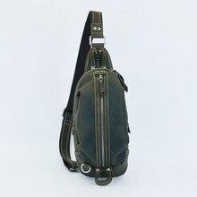 vintage crazy horse genuine leather camera bag men bag men's briefcase vintage Shoulder Messenger bags  travel bag #1300-1