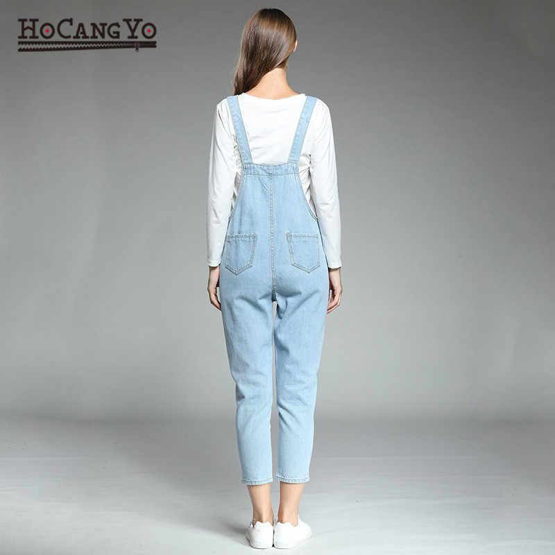 HCYO женский комбинезон большого размера 5XL свободные классические ремни Цветочные вышитые джинсы костюмы, женские Комбинезоны для женщин