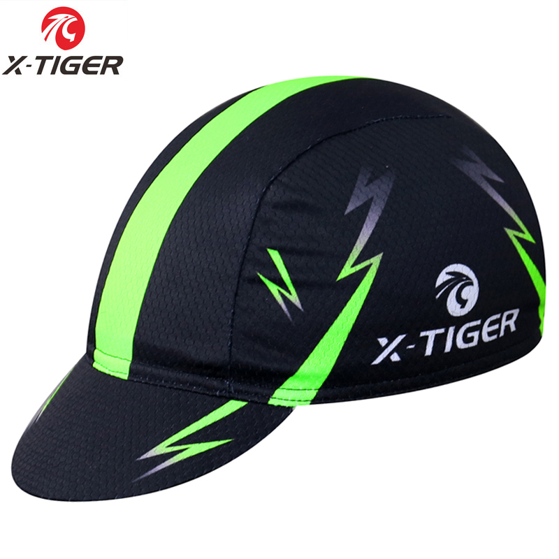 X-TIGER Bright Green Outdoor Sport Bike Head MTB Bicycle Headwear Headband 100% Polyester Cycling Hats Bandana Pro Cycling Cap