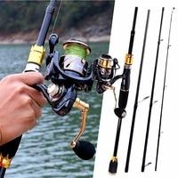 Sougayilang Spinning Fishing Rod Combo Portable Fishing Rod With 13+1 BB Spinning Fishing Reel
