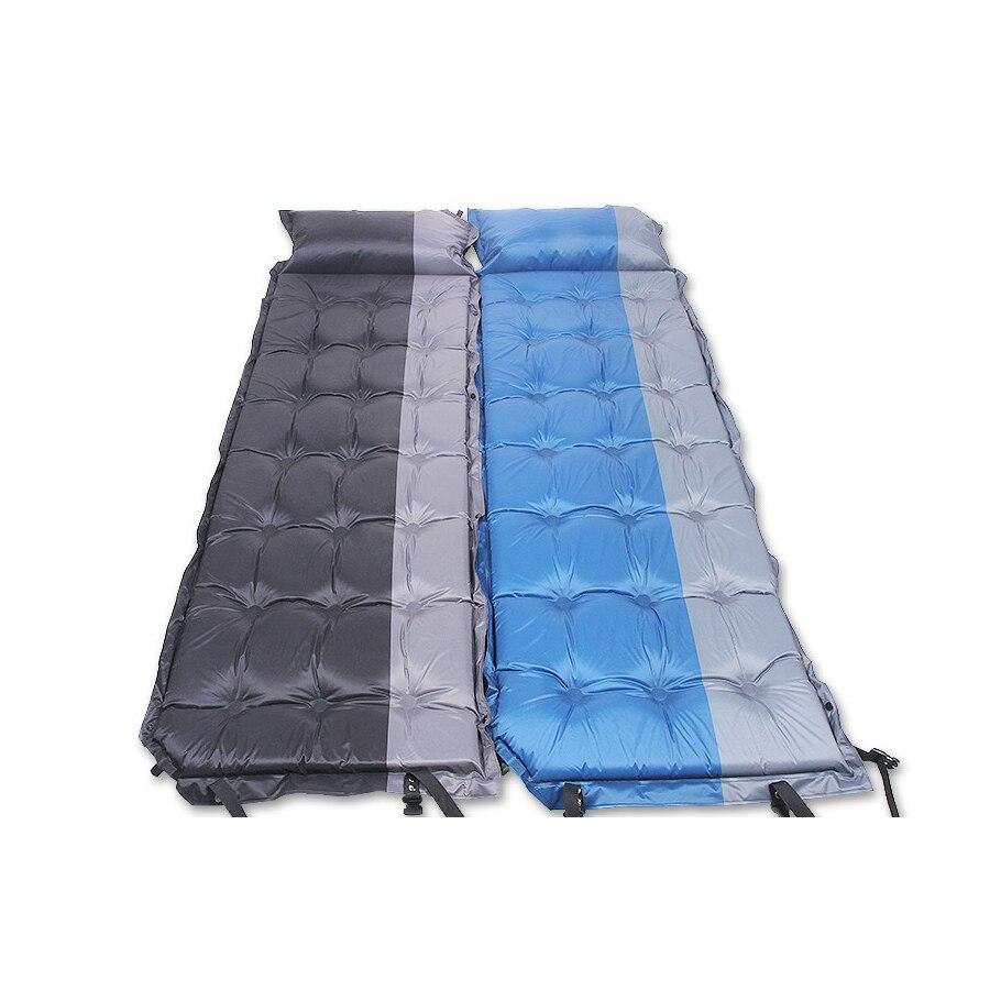 Matelas de Camping auto-gonflant matelas de Camping matelas de couchage avec oreiller lit gonflable pour extérieur 200*65 cm Camping randonnée