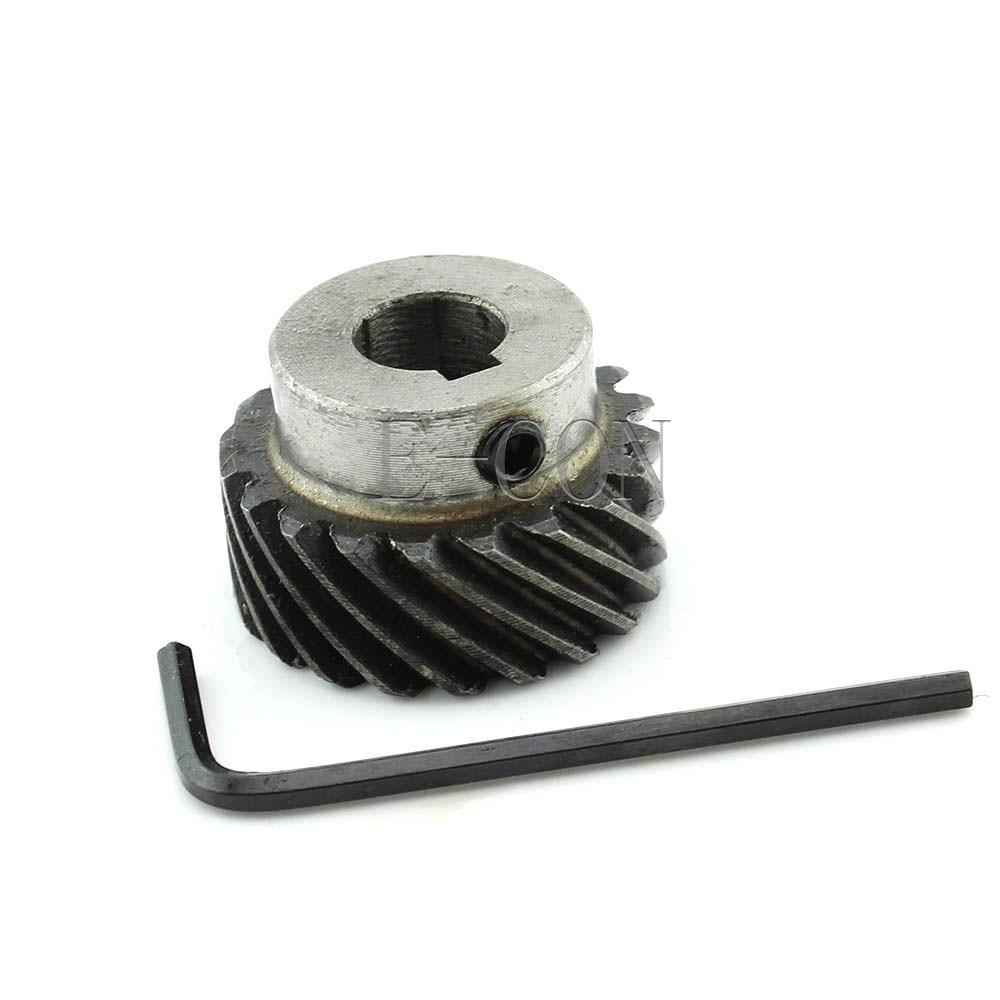 2pcs 1M20T Metal Umbrella Spiral Bevel Gear Helical Motor Gear 20 Tooth
